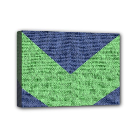 Arrow Texture Background Pattern Mini Canvas 7  X 5  by Onesevenart
