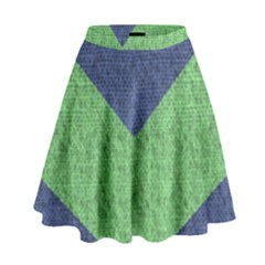 Arrow Texture Background Pattern High Waist Skirt by Onesevenart