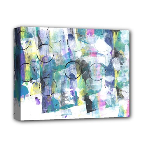Background Color Circle Pattern Deluxe Canvas 14  X 11  by Onesevenart