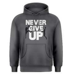 Never Give Up   Men s Pullover Hoodie by FunnySaying