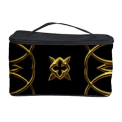 Black And Gold Pattern Elegant Geometric Design Cosmetic Storage Case by yoursparklingshop