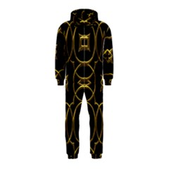 Black And Gold Pattern Elegant Geometric Design Hooded Jumpsuit (kids) by yoursparklingshop
