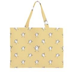 Happy Character Kids Motif Pattern Zipper Large Tote Bag by dflcprints