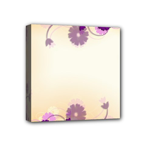 Background Floral Background Mini Canvas 4  X 4  by Onesevenart