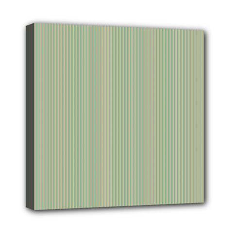 Background Pattern Green Mini Canvas 8  X 8  by Onesevenart