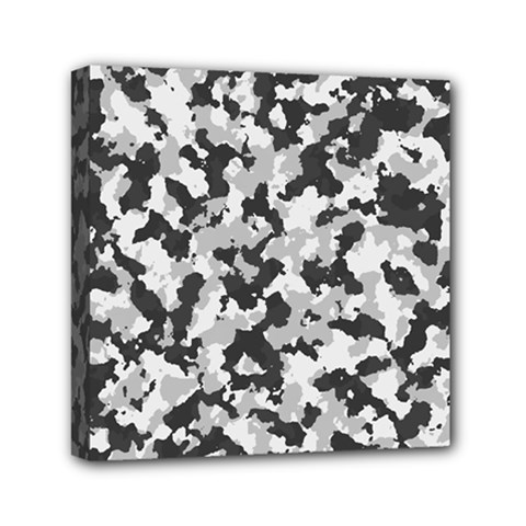 Camouflage Tarn Texture Pattern Mini Canvas 6  X 6  by Onesevenart