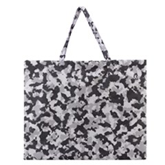 Camouflage Tarn Texture Pattern Zipper Large Tote Bag by Onesevenart