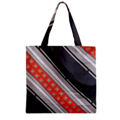 Bed Linen Microfibre Pattern Zipper Grocery Tote Bag by Onesevenart