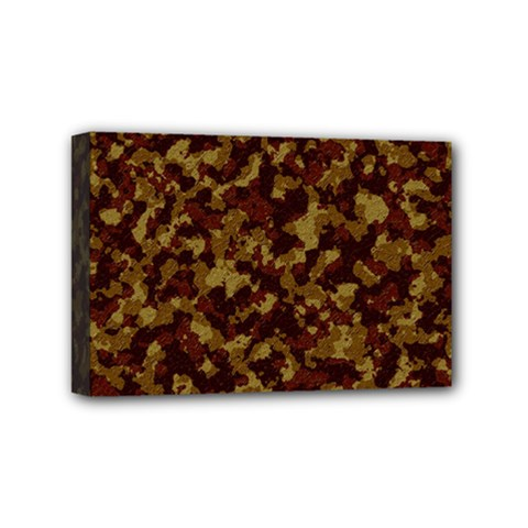 Camouflage Tarn Forest Texture Mini Canvas 6  X 4  by Onesevenart