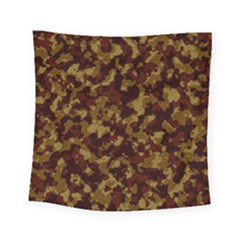 Camouflage Tarn Forest Texture Square Tapestry (small) by Onesevenart