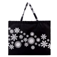 Flower Power Flowers Ornament Zipper Large Tote Bag by Onesevenart
