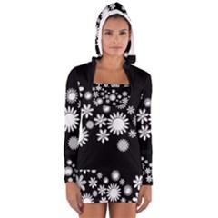 Flower Power Flowers Ornament Women s Long Sleeve Hooded T Shirt by Onesevenart