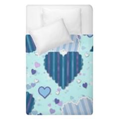 Hearts Pattern Paper Wallpaper Duvet Cover Double Side (single Size) by Onesevenart