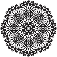 Mandala Geometric Symbol Pattern Hook Handle Umbrellas (large) by Onesevenart