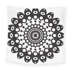 Mandala Geometric Symbol Pattern Square Tapestry (large) by Onesevenart