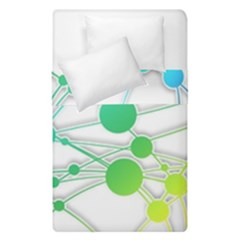 Network Connection Structure Knot Duvet Cover Double Side (single Size) by Onesevenart