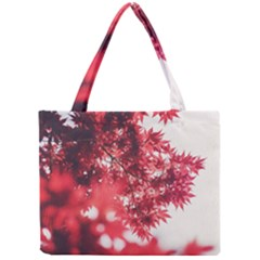 Maple Leaves Red Autumn Fall Mini Tote Bag by Onesevenart