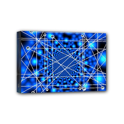 Network Connection Structure Knot Mini Canvas 6  X 4  by Onesevenart