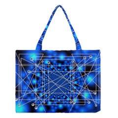Network Connection Structure Knot Medium Tote Bag by Onesevenart