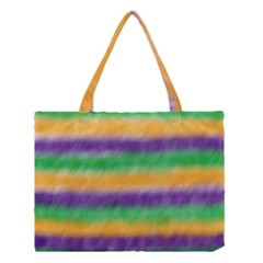 Mardi Gras Strip Tie Die Medium Tote Bag by PhotoNOLA
