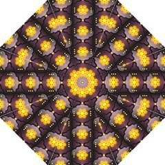 Pattern Background Yellow Bright Straight Umbrellas by Onesevenart