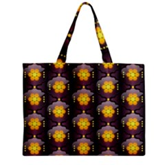 Pattern Background Yellow Bright Zipper Mini Tote Bag by Onesevenart