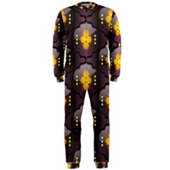 Pattern Background Yellow Bright OnePiece Jumpsuit (Men)  by Onesevenart