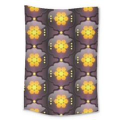 Pattern Background Yellow Bright Large Tapestry by Onesevenart