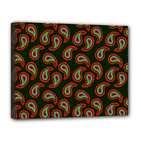 Pattern Abstract Paisley Swirls Canvas 14  X 11  by Onesevenart