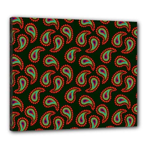 Pattern Abstract Paisley Swirls Canvas 24  X 20  by Onesevenart