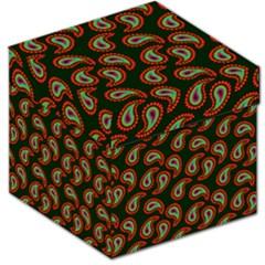 Pattern Abstract Paisley Swirls Storage Stool 12   by Onesevenart