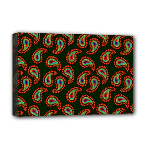 Pattern Abstract Paisley Swirls Deluxe Canvas 18  X 12   by Onesevenart