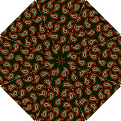 Pattern Abstract Paisley Swirls Hook Handle Umbrellas (small) by Onesevenart