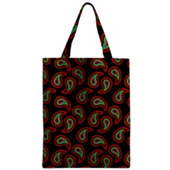 Pattern Abstract Paisley Swirls Zipper Classic Tote Bag by Onesevenart