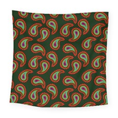 Pattern Abstract Paisley Swirls Square Tapestry (large) by Onesevenart