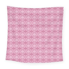 Pattern Pink Grid Pattern Square Tapestry (large) by Onesevenart