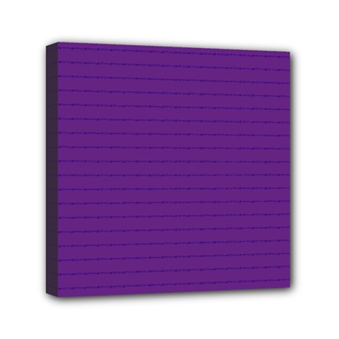 Pattern Violet Purple Background Mini Canvas 6  X 6  by Onesevenart