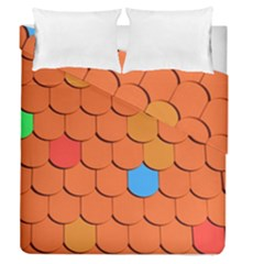 Roof Brick Colorful Red Roofing Duvet Cover Double Side (queen Size) by Onesevenart