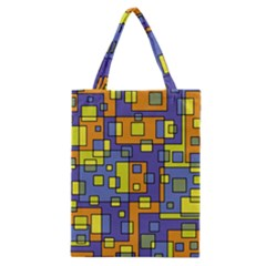 Square Background Background Texture Classic Tote Bag by Onesevenart