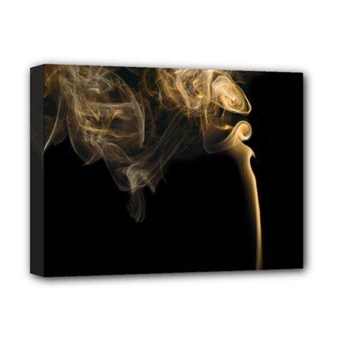 Smoke Fume Smolder Cigarette Air Deluxe Canvas 16  X 12   by Onesevenart
