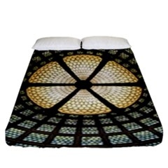 Stained Glass Colorful Glass Fitted Sheet (king Size) by Onesevenart