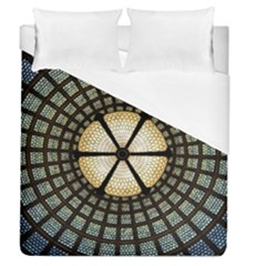 Stained Glass Colorful Glass Duvet Cover (queen Size) by Onesevenart