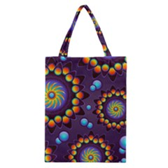Texture Background Flower Pattern Classic Tote Bag by Onesevenart