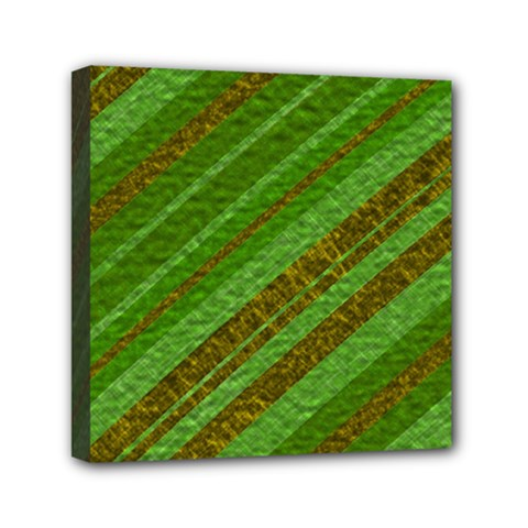 Stripes Course Texture Background Mini Canvas 6  X 6  by Onesevenart
