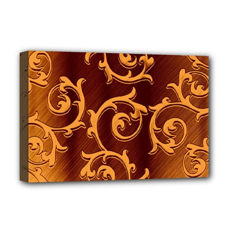 Floral Vintage Deluxe Canvas 18  X 12   by Onesevenart