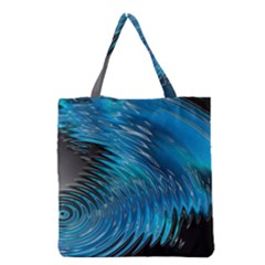 Waves Wave Water Blue Hole Black Grocery Tote Bag by Alisyart