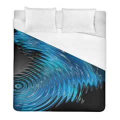 Waves Wave Water Blue Hole Black Duvet Cover (full/ Double Size) by Alisyart