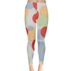 Contrast Analogous Colour Circle Red Green Orange Leggings  by Alisyart