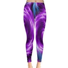 Colors Light Blue Purple Hole Space Galaxy Leggings  by Alisyart