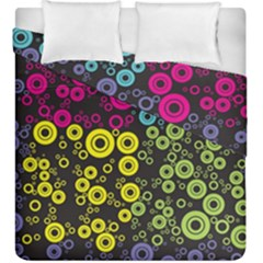 Circle Ring Color Purple Pink Yellow Blue Duvet Cover Double Side (king Size) by Alisyart